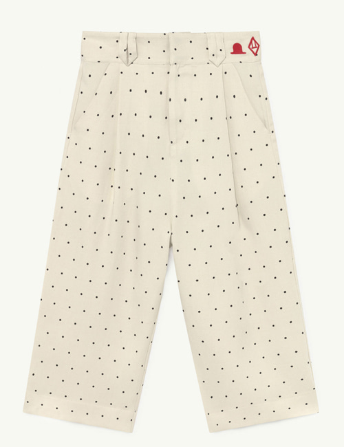[T.A.O] EMU TWILL KIDS TROUSERS WHITE DOTS [3Y, 4Y, 8Y, 10Y]