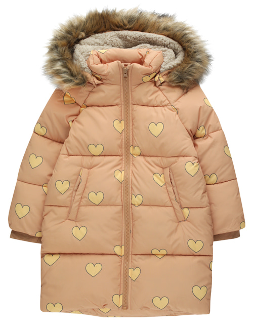 "[TINY COTTONS] ""HEARTS"" PADDED JACKET _ camel/yellow [12Y]"