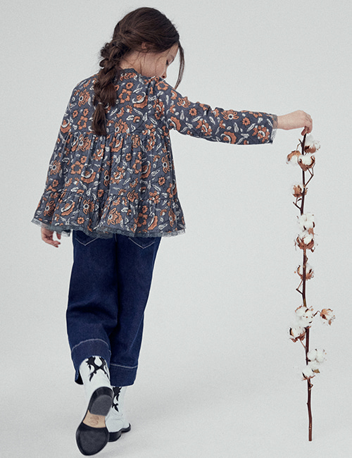 [THE NEW SOCIETY] PETUNIA BLOUSE _  HINDÚ BATIK [4Y, 8Y, 10Y]