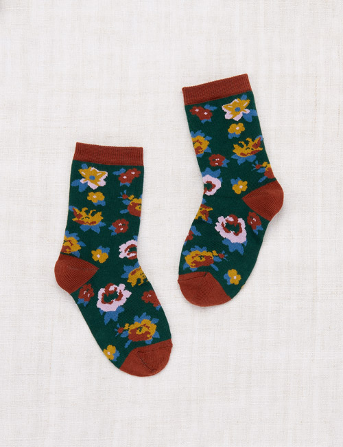 [MISHA AND PUFF]Brimfield Crew Socks _ Laurel [24/27,28/31, 32/35]