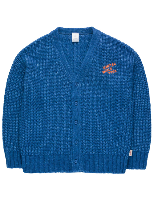 [TINY COTTONS]  CHUNKY KNIT CARDIGAN _ blue[6Y, 8Y]
