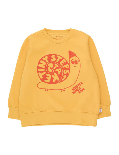 "[TINY COTTONS]  ""TINY STEPS"" SWEATSHIRT _ yellow/red[4Y]"