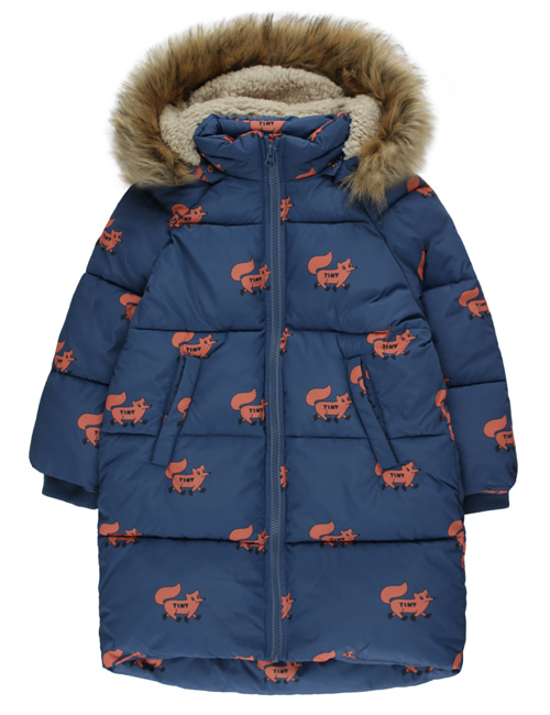 "[TINY COTTONS] ""FOXES"" PADDED JACKET _ light navy/sienna [2Y]"
