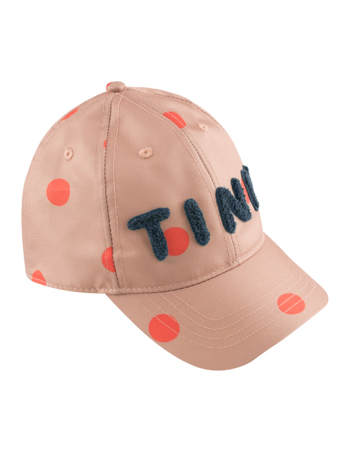 "[TINY COTTONS] ""BIG DOTS"" CAP _ tan/red [M (50/52), L (56/58)]"
