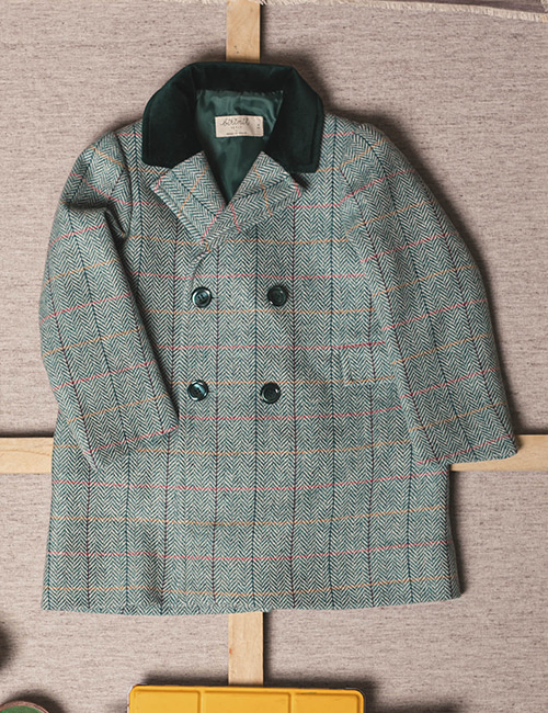 [BIRINIT PETIT] Monet V-neck coat [4Y]