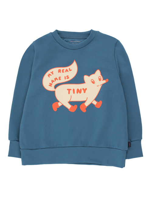 "[TINY COTTONS]  ""TINY FOX"" SWEATSHIRT _ sea blue/cream [ 8Y]"