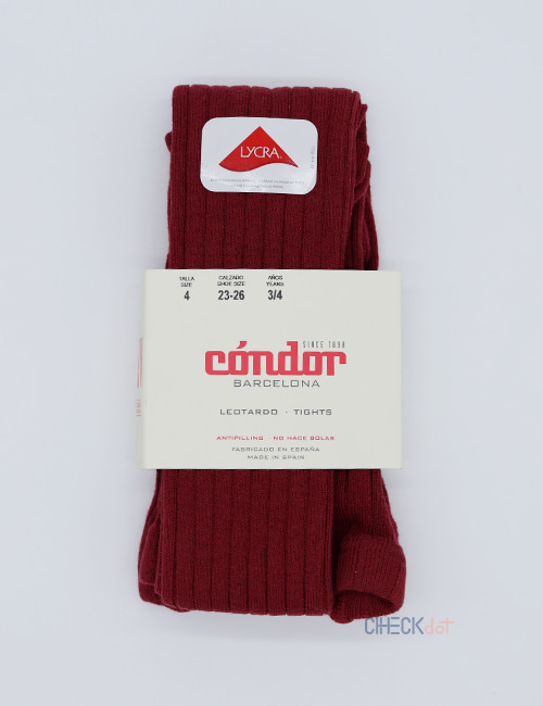 [CONDOR] BASIC RIB TIGHTS _ GARNET (575) [2Y, 4Y, 6Y]