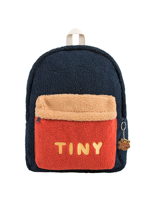 "[TINY COTTONS] ""TINY"" BIG COLOR BLOCK BACKPACK _ navy"