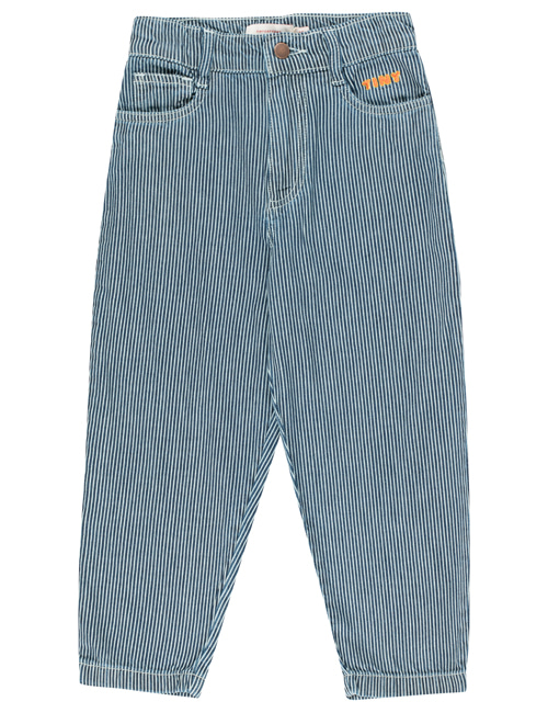 [TINY COTTONS] STRIPES BAGGY DENIM _ stripes denim [4Y, 6Y, 8Y, 10Y]