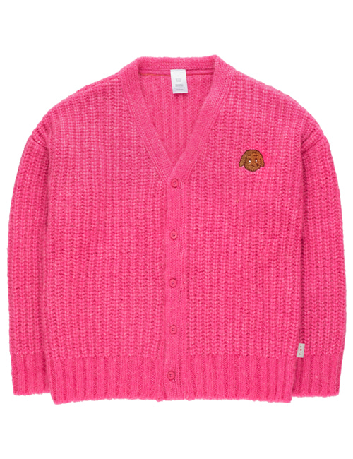 [TINY COTTONS]  CHUNKY KNIT CARDIGAN _ bubble gum[2Y, 10Y, 12Y]
