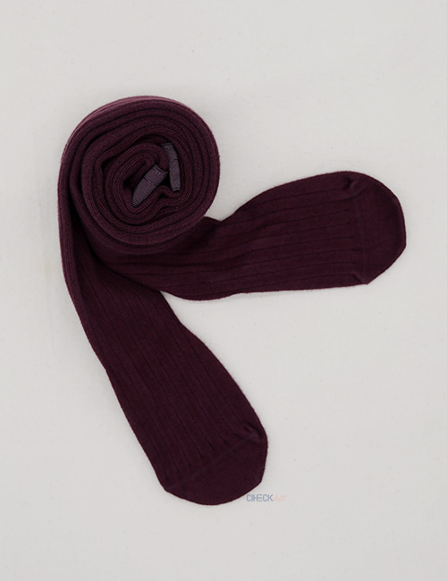 [COLLEGIEN]Ribbed Tight _ Aubergine (No.886) [2Y]