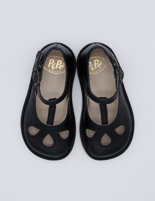 [PEPE SHOES]] Lucy/FAU BLACK[22, 23, 24, 25, 26, 27, 28, 30]