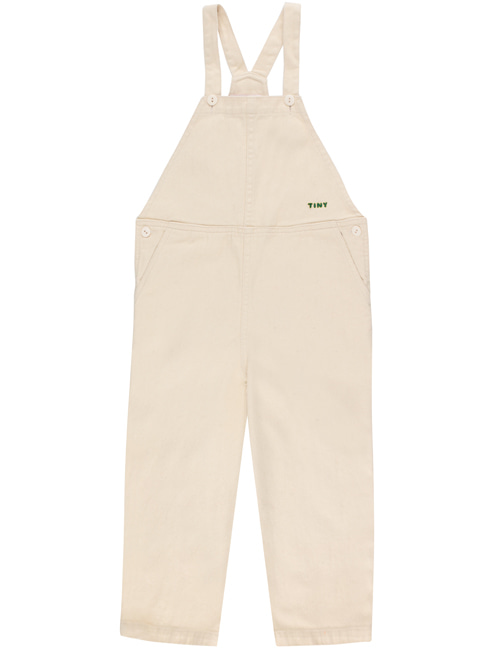 [TINY COTTONS] SOLID OVERALL _ cream[4Y, 6Y, 8Y, 10Y, 12Y]
