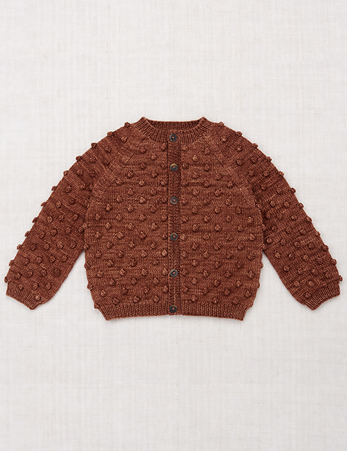 [MISHA AND PUFF]Popcorn Cardigan _ Chestnut
