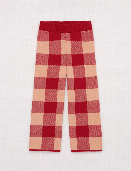 [MISHAANDPUFF]Plaid Slim Pant _ Berry [3-4Y]