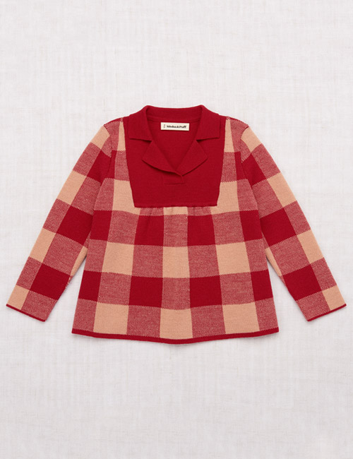 [MISHAANDPUFF]Plaid Tunic _ Berry [4-5Y, 5-6Y]