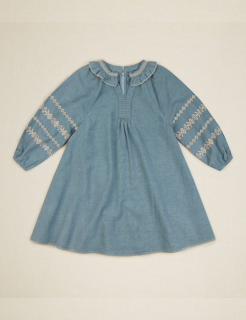 [APOLINA KIDS] 'LUCILLE' DRESS – BLUE STONE[2-3Y]