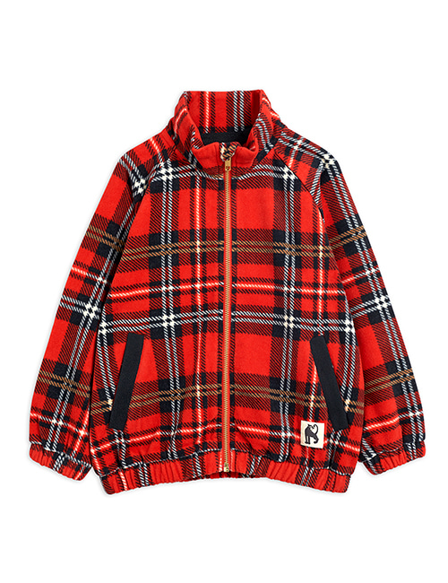[MINI RODINI] Fleece check jacket _ Red [92/98]