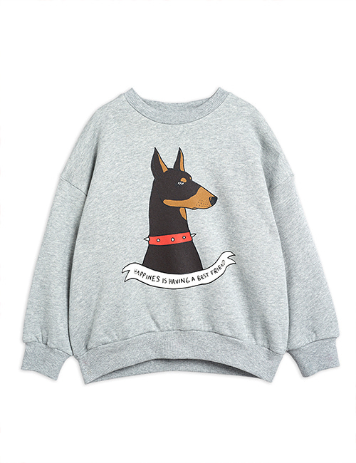 [MINI RODINI] Doberman SP sweatshirt _ Grey melange