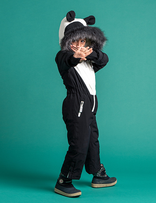 [DINOSKI]Patch - Panda Themed Ski Suit [2-3Y,6--7Y]