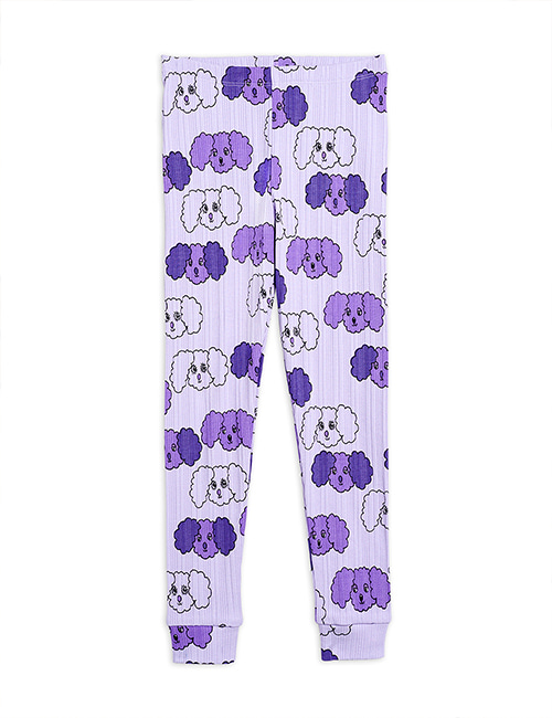 [MINI RODINI] Fluffy dog aop leggings _ Purple [80/86, 92/98, 104/110, 116/122]