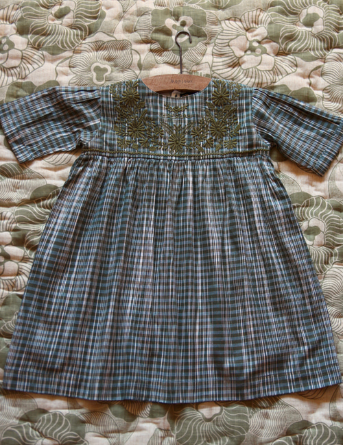 [BONJOUR DIARY] Rosalie Dress _ Ikat check [6Y, 8Y, 10Y]
