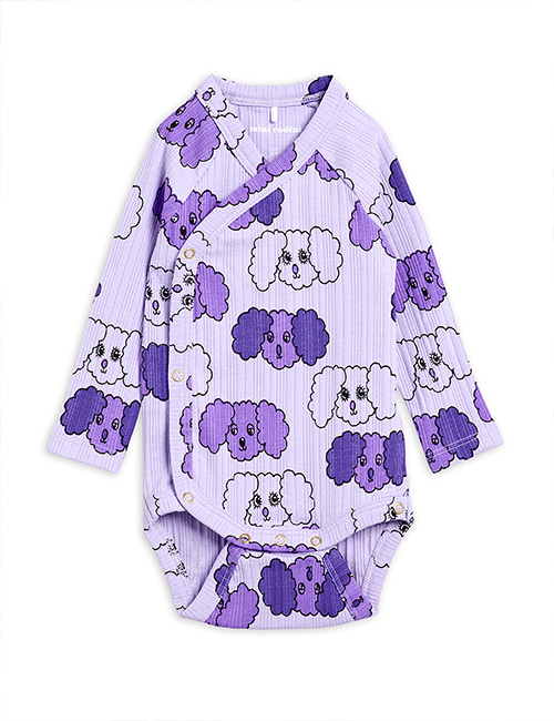 [MINI RODINI] Fluffy dog aop wrap body _ Purple [62]