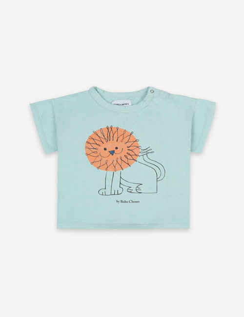 [BOBO CHOSES] Pet a Lion Short Sleeve T-shirt[12-18m,24-36m]