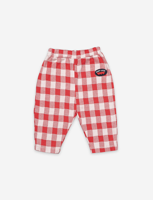 [BOBO CHOSES]  Vichy Jersey Trousers[12-18m, 18-24m]