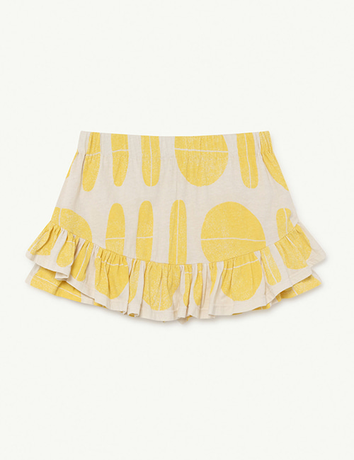 [T.A.O]  KIWI KIDS SKIRT _ White Ovals