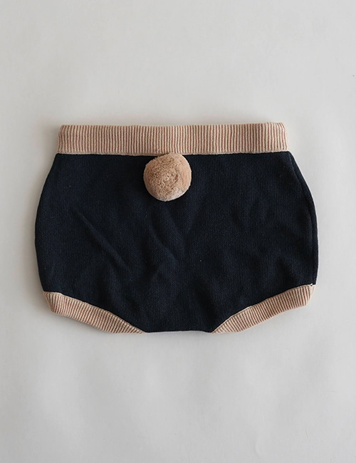 [Mes Kids Des fleurs] shorts with pompom _ Navy [S]