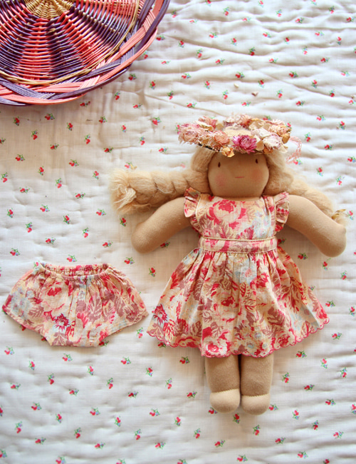 [BONJOUR DIARY] Doll dress with panty _ Big flower print[S, M]