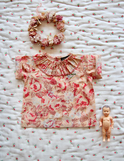 [BONJOUR DIARY] Baby blouse with embroidery _ Big flower print[12M, 2-3Y]