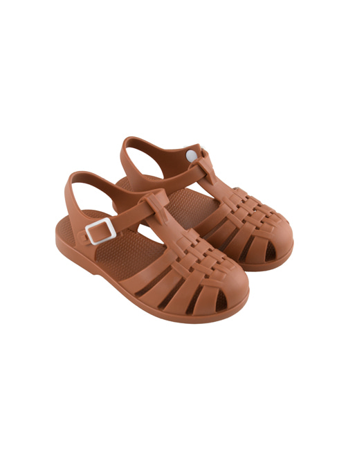 [TINY COTTONS]  JELLY SANDALS _ nut brown [26, 27, 28, 29]